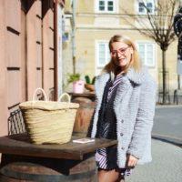 Koszulowa sukienka w paski | Bonprix.pl